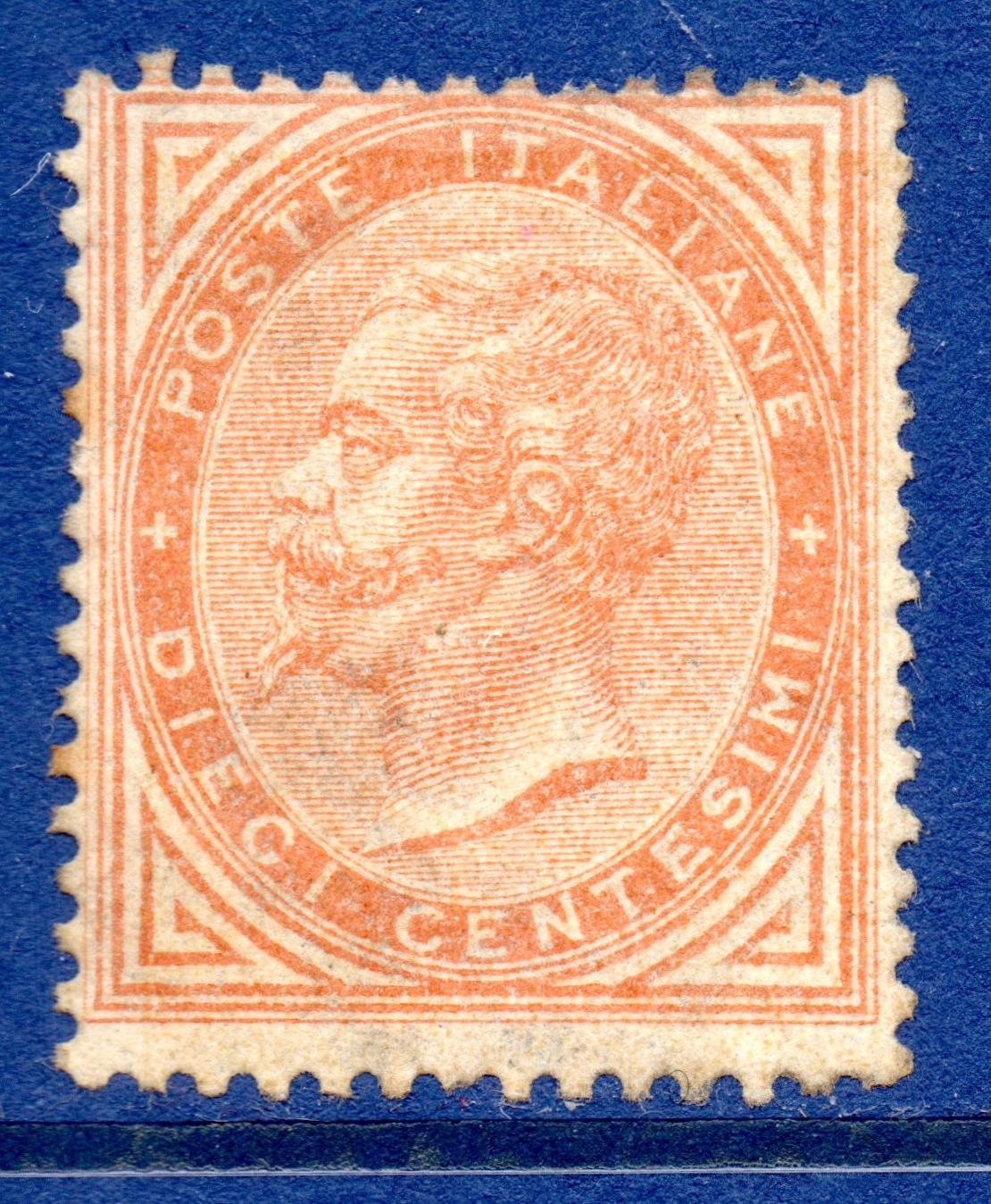 ITALY 1863 10c Buff Mint with Original Gum - Fresh and SCARCE Scott #27