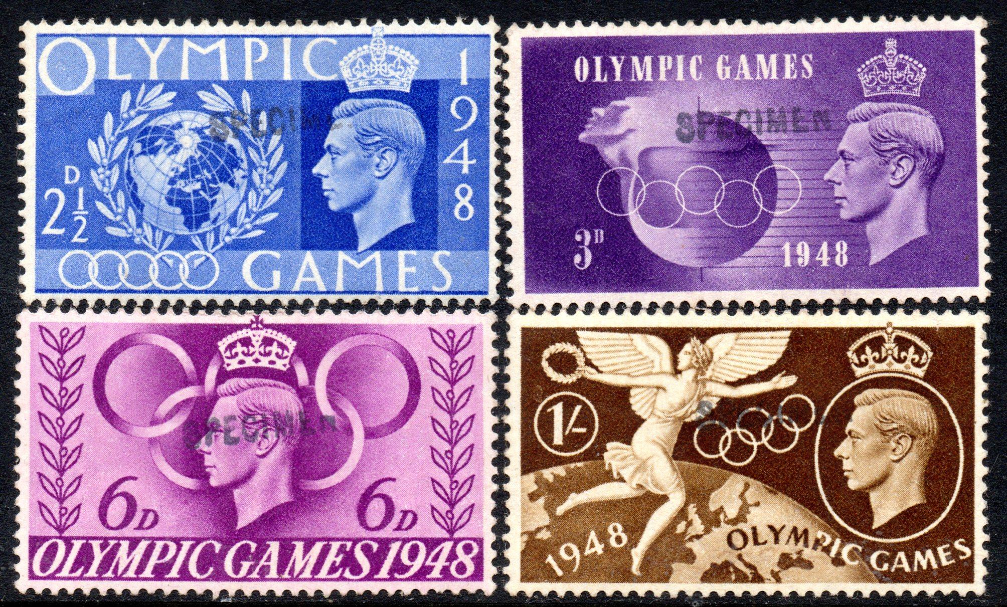 1948 OLYMPIC GAMES SPECIMEN SET