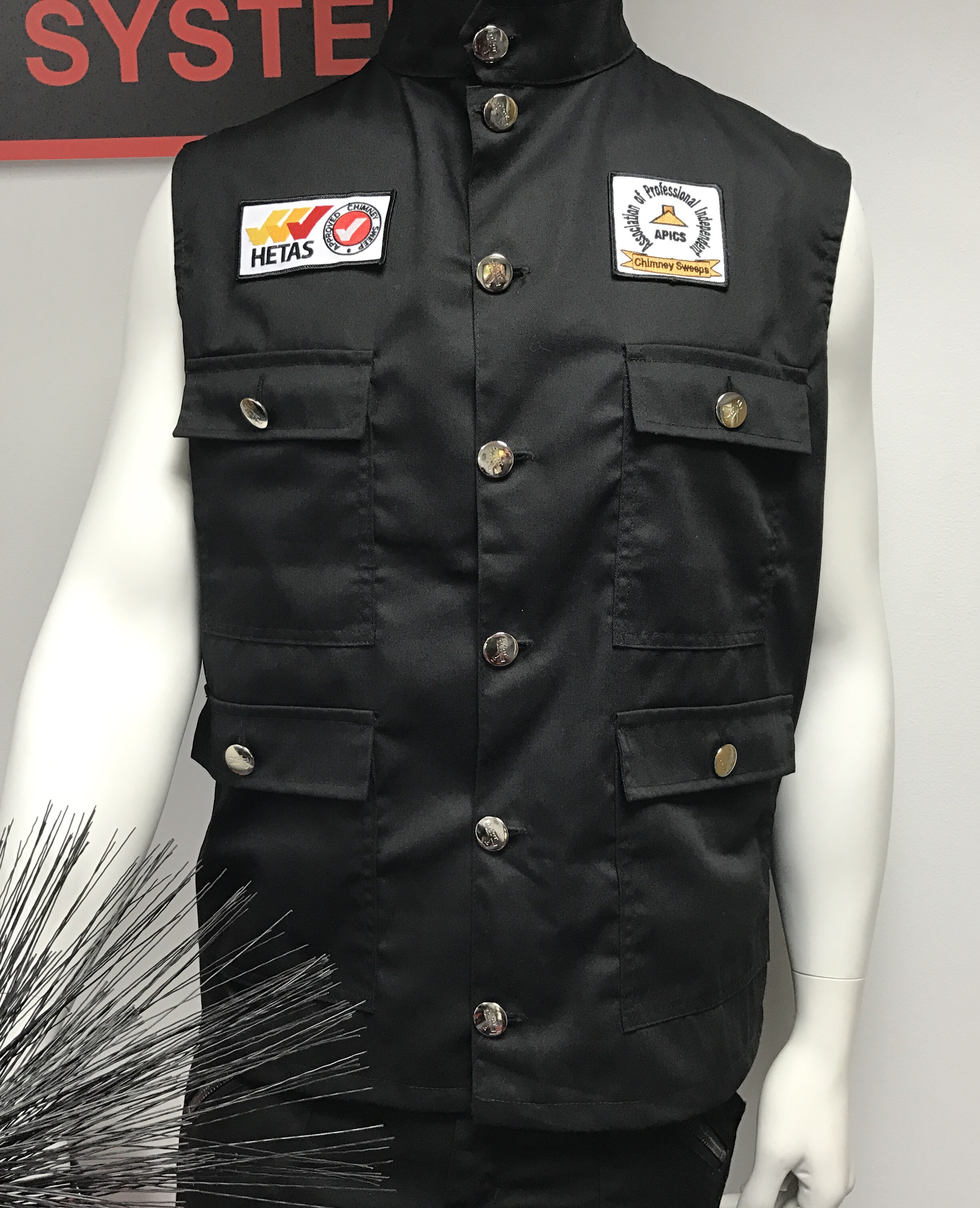 Chimney Sweep Working Gilet