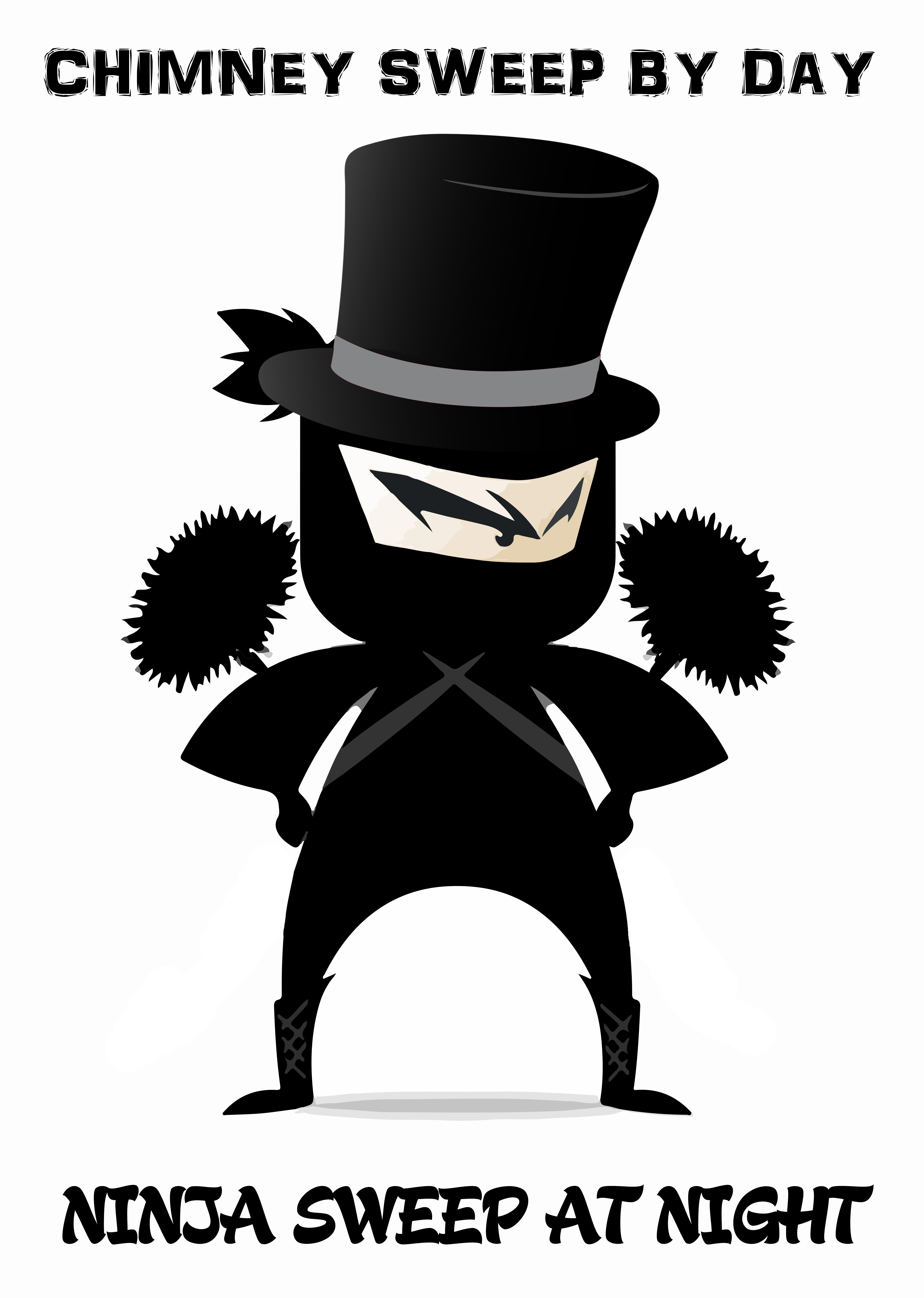 'Sooty Clobber' - Ninja T-Shirt