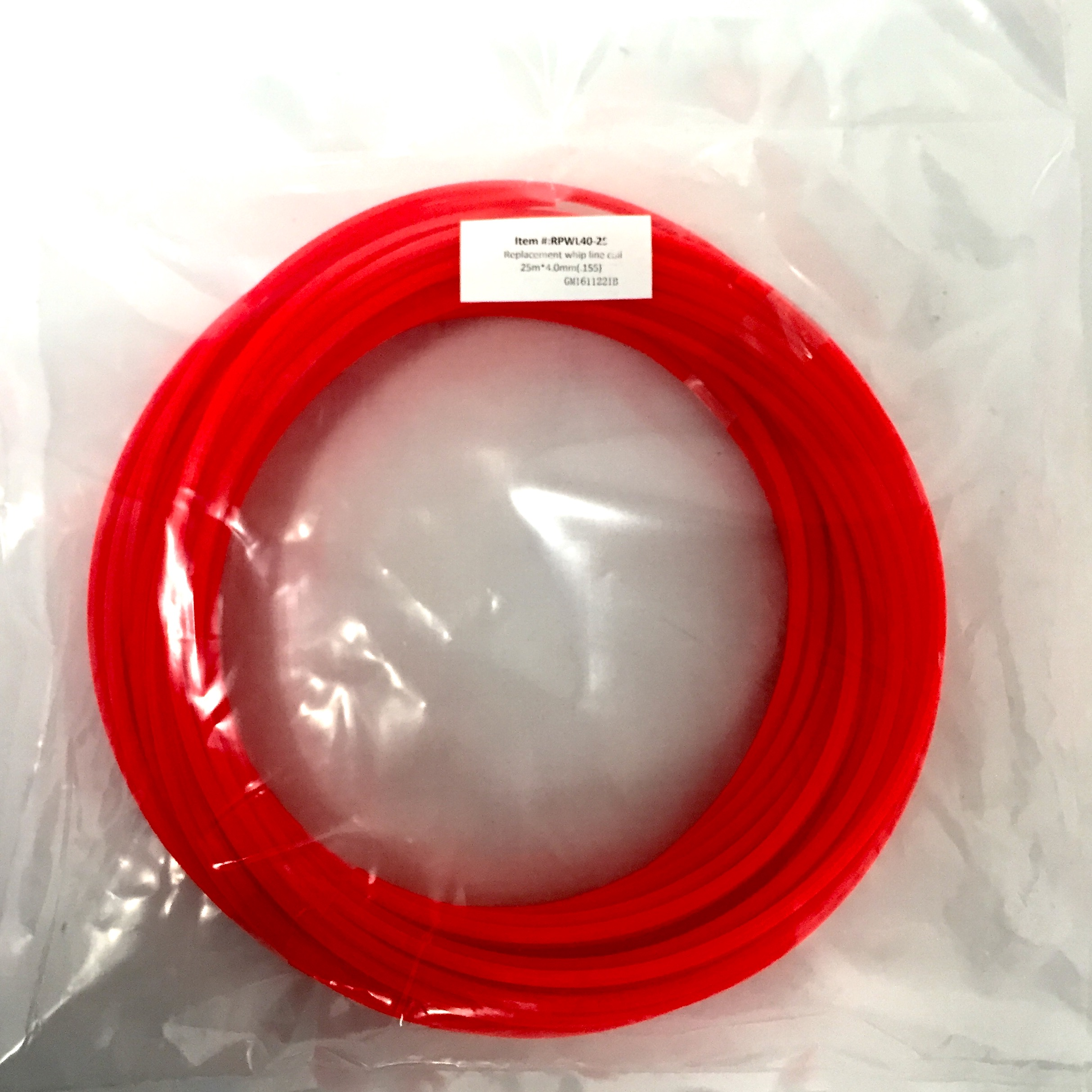Snaplok 25M x 4mm Co-polymer Whip Line Reel - Hex