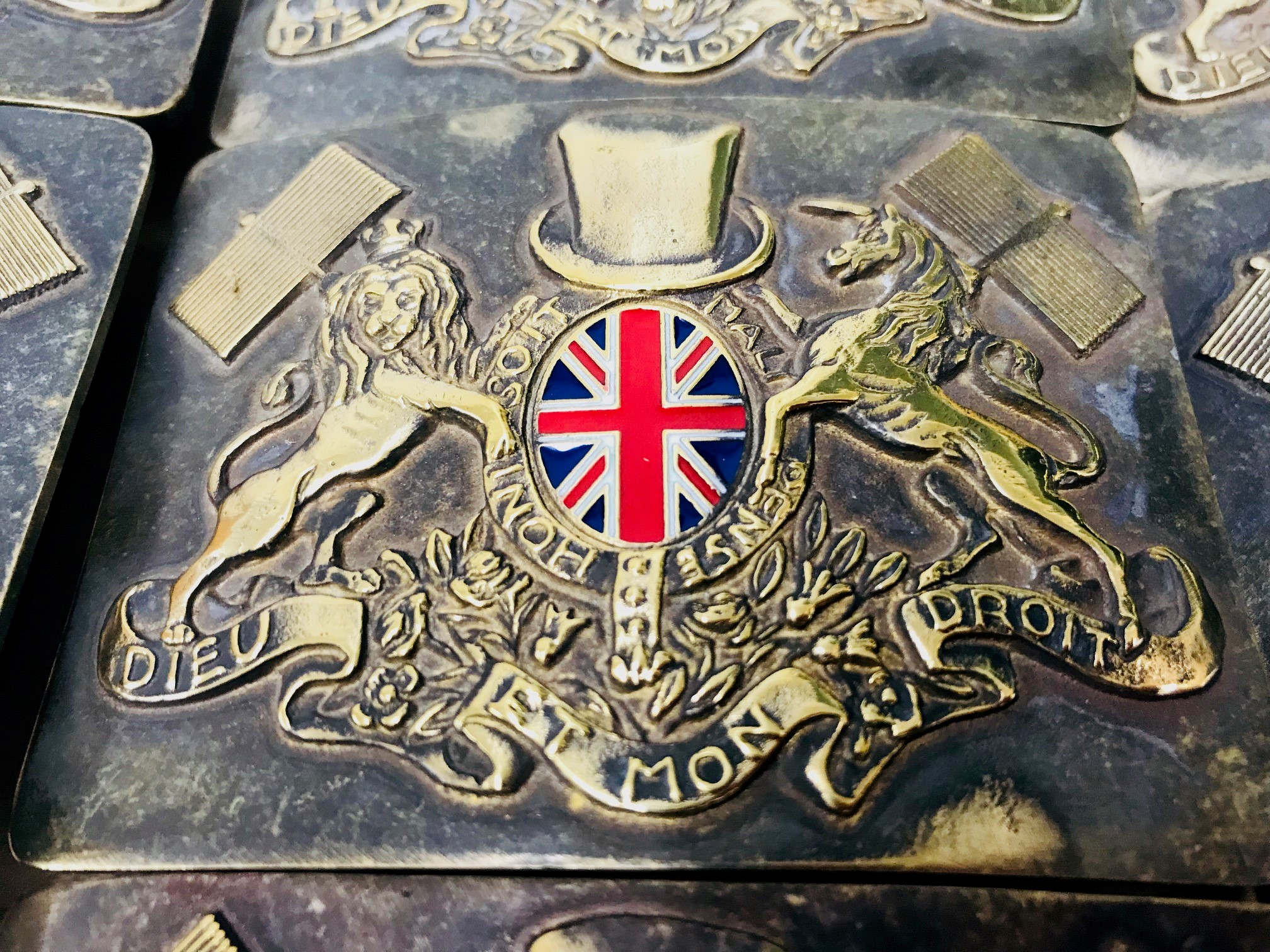 Brass British Sweep Buckle