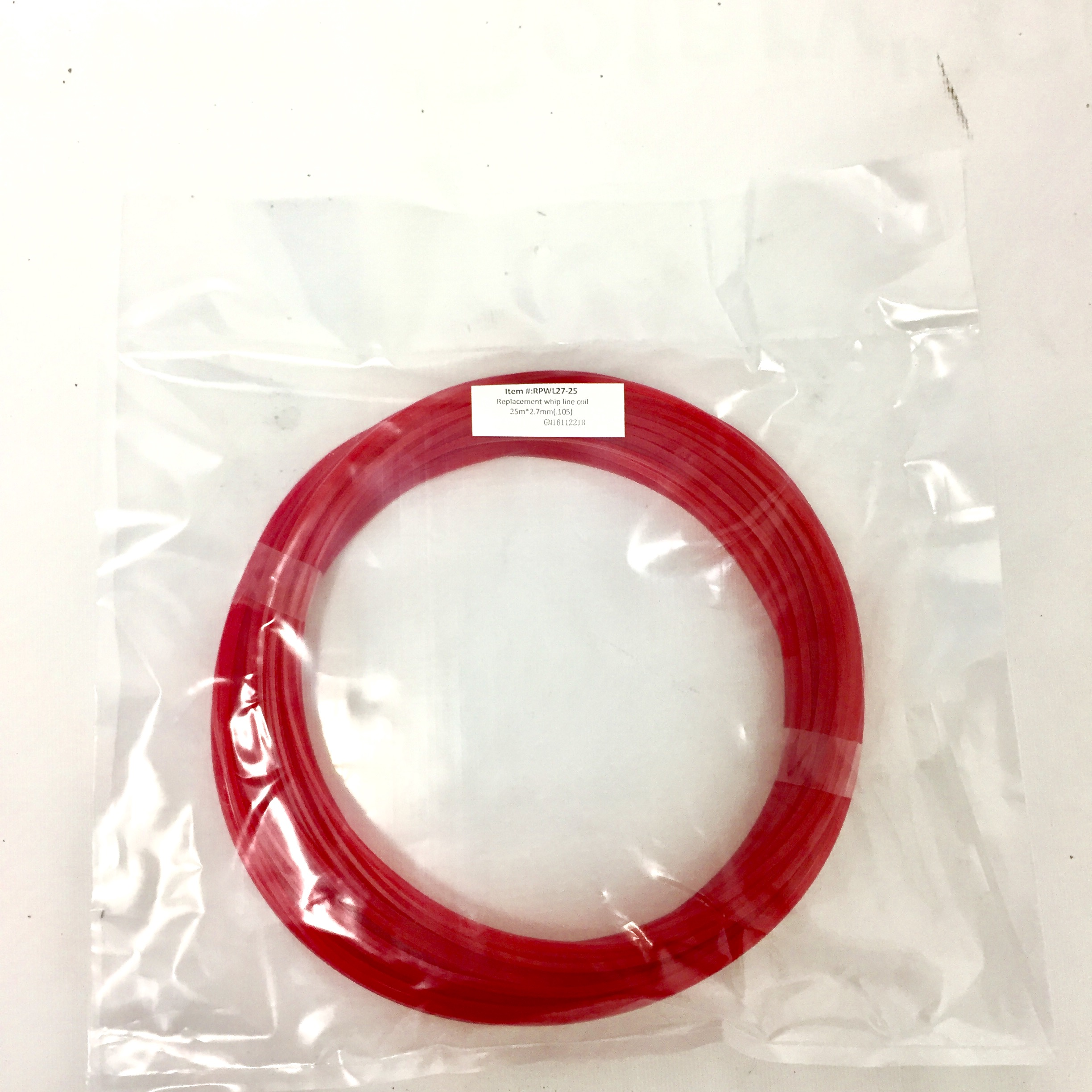 Snaplok 25M x 2.7mm Co-polymer Whip Line Reel - Square