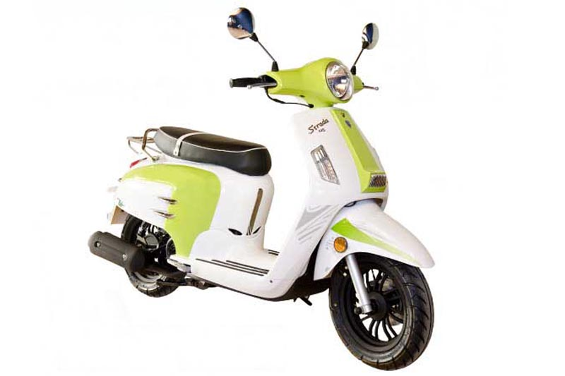 Alquiler moto, tipo vespa.