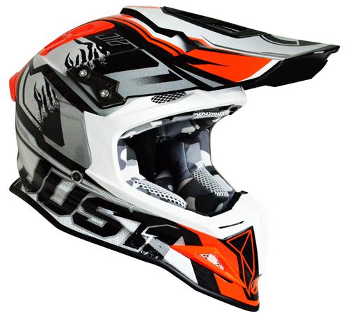 JUST1 Helmet J12 Dominator White-Red