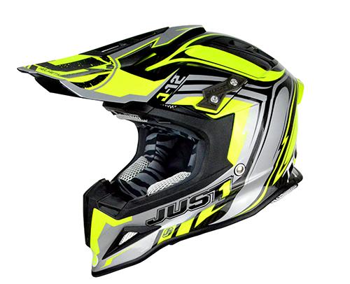 JUST1 Helmet J12 Flame Yellow-Black