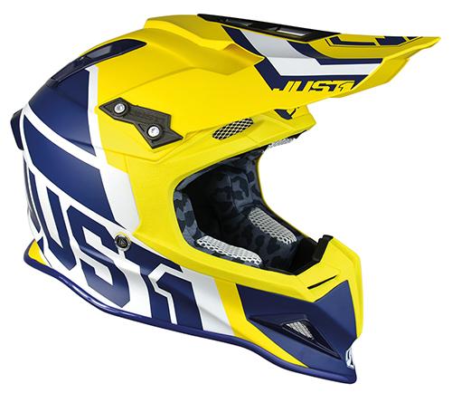 JUST1 Helmet J12 Unit Blue-Yellow