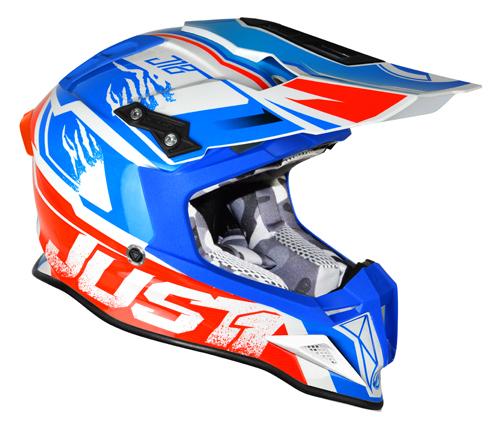 JUST1 Helmet J12 Dominator White-Red-Blue
