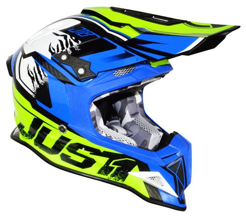 JUST1 Helmet J12 Dominator Neon Yellow-Blue