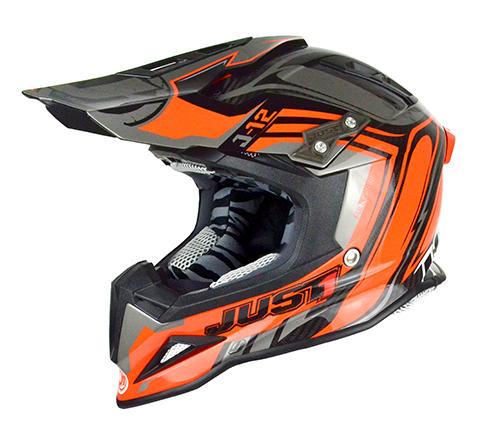 JUST1 Helmet J12 Flame Black-Orange