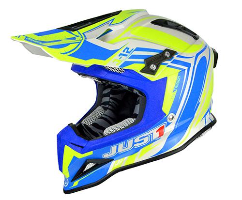 JUST1 Helmet J12 Flame Yellow-Blue