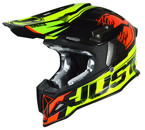 JUST1 Helmet J12 Dominator Neon Lime-Red
