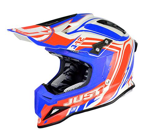 JUST1 Helmet J12 Flame Red-Blue