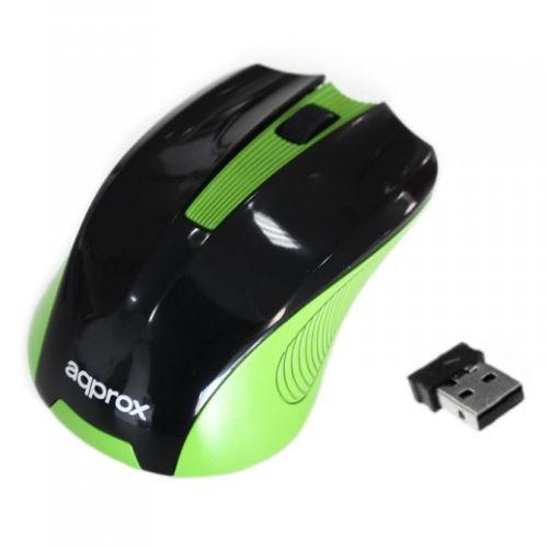 Aqprox Wireless Mouse - Black/Green