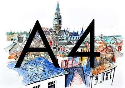 A4 Urban Sketch Print