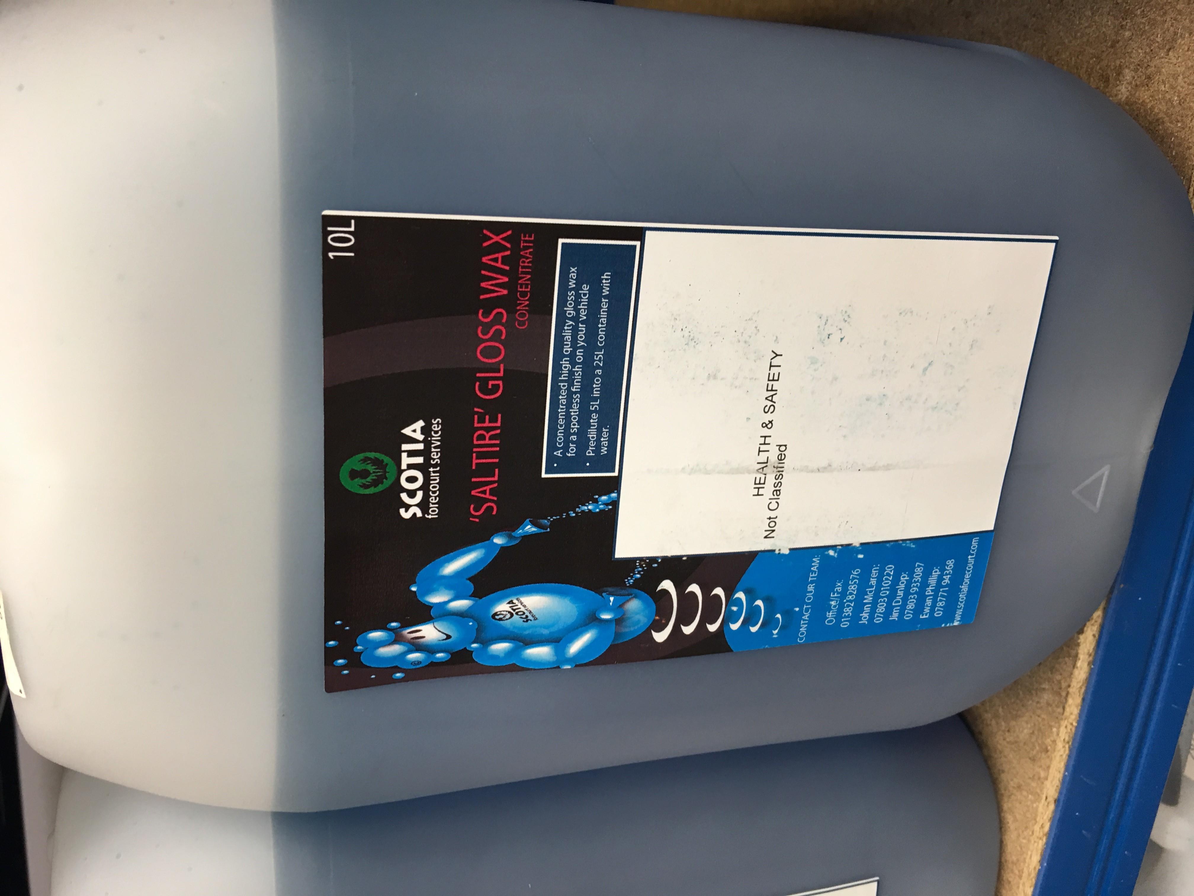 Saltire Gloss Wax 10L