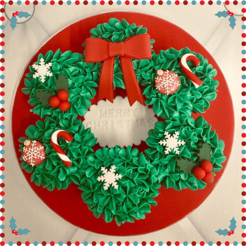 Christmas Cupcake Wreath Class - SOLD OUT