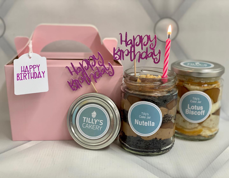 Birthday Cake Jar Gift Box