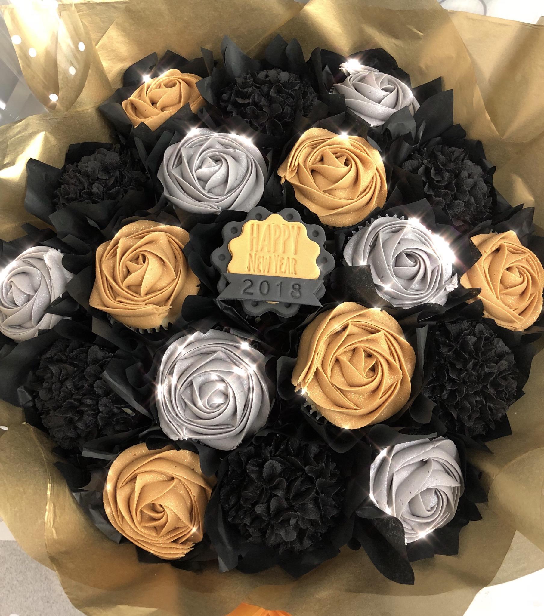 NYE Cupcake Bouquet