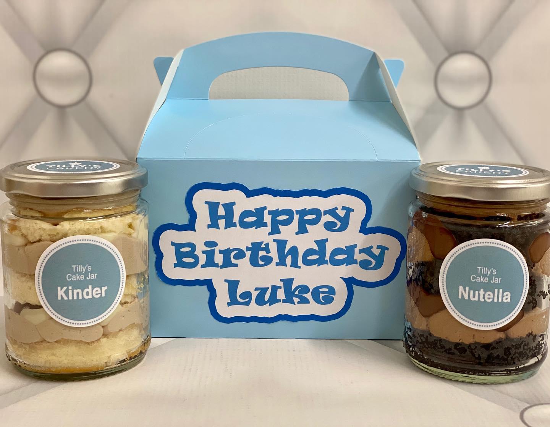 Personalised Cake Jar Gift Box