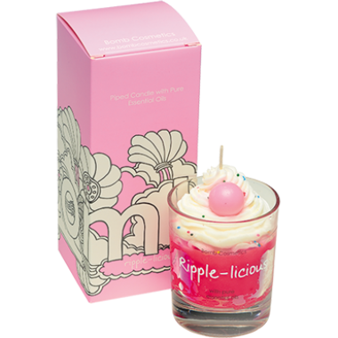 Ripple-licious Piped Glass Candle