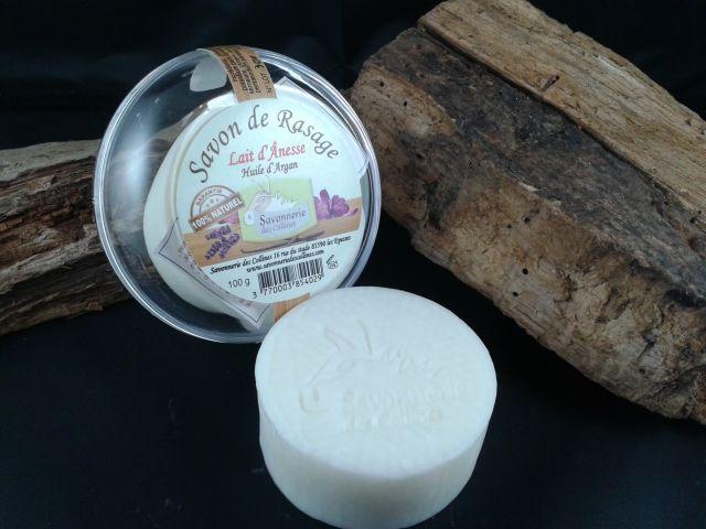 Shaving Soap fresh organic 'Donkey milk' - 100g