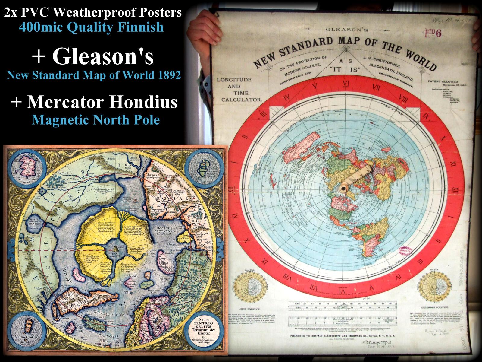 Mercator/Hondius 1621 + Gleason 1892