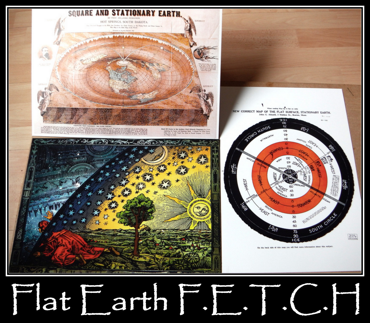 3X FLAT EARTH PRINT #3
