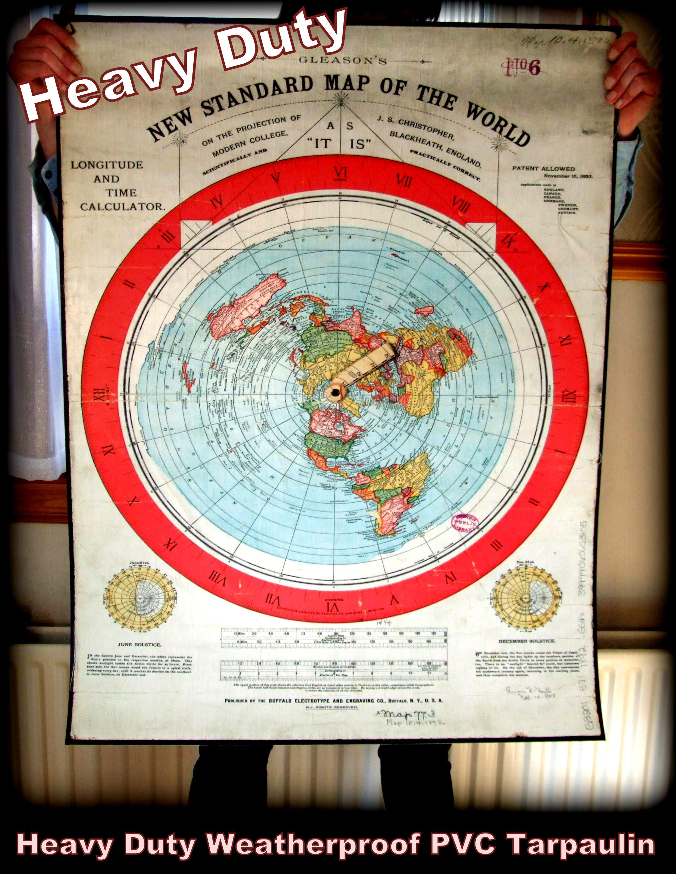Gleason's Map 1892 (400mic Heavy Duty PVC)