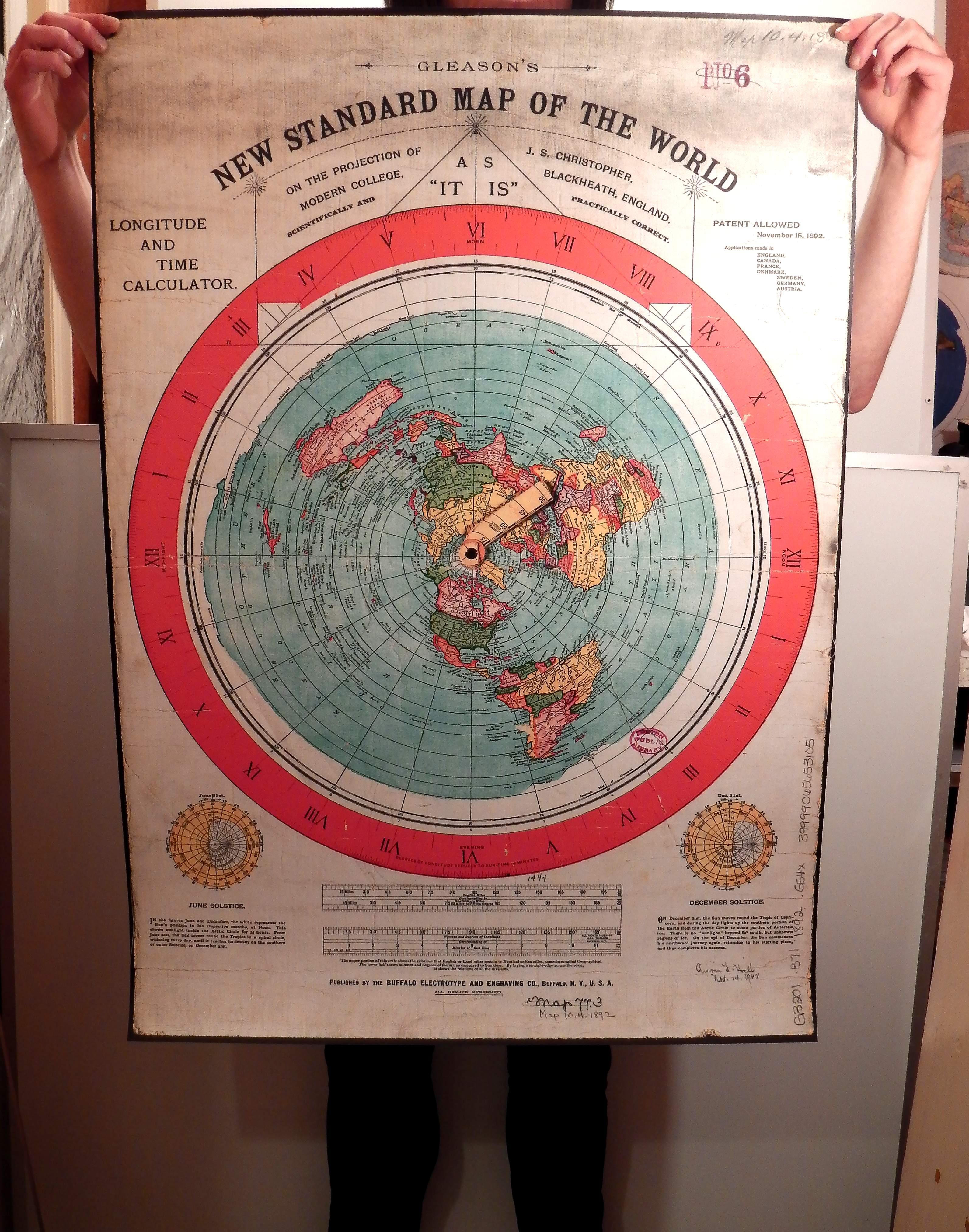 Gleason's Map 1892 Map (220mic Medium PVC)