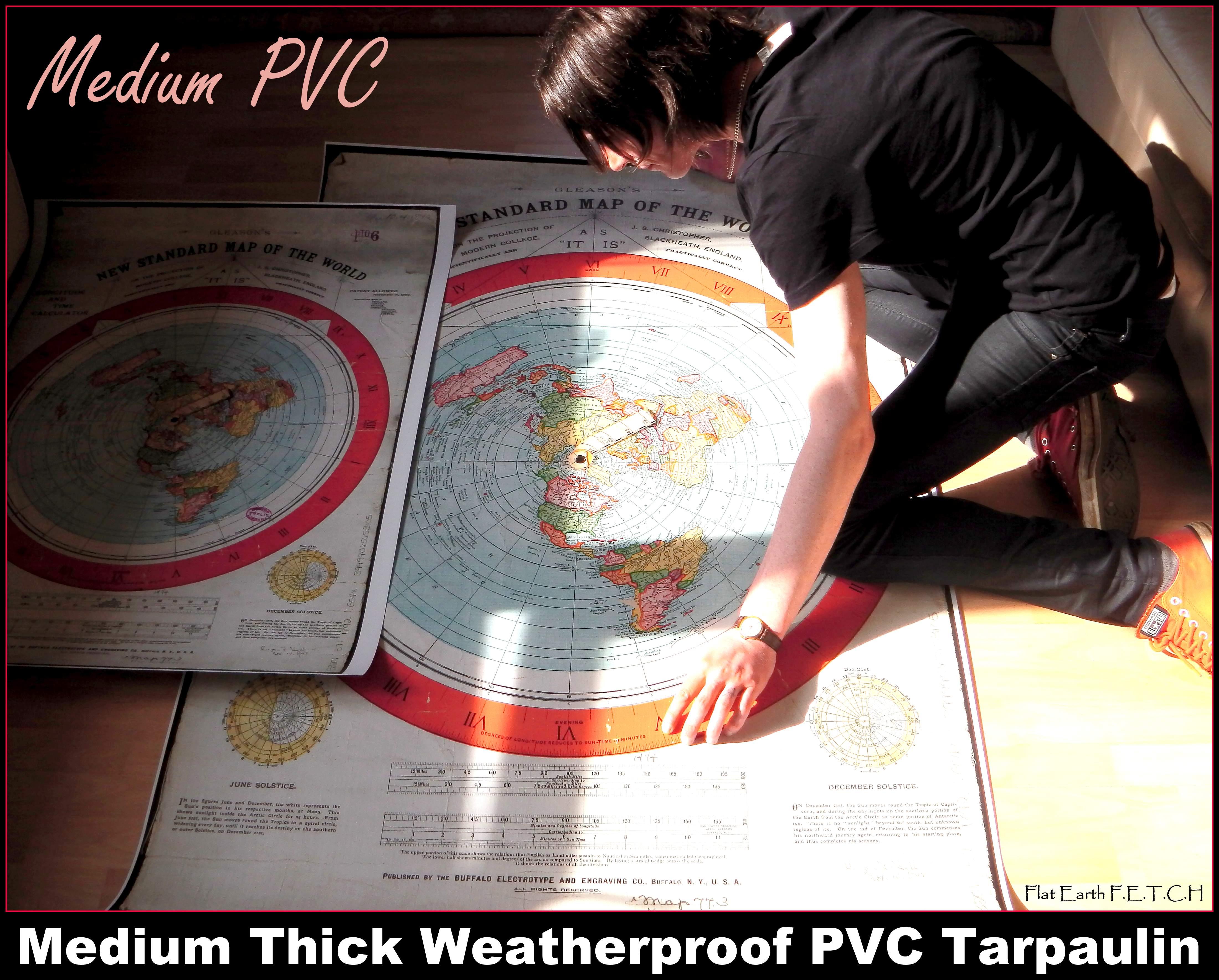 Giant 5ft Gleason's Map (220mic Medium PVC)