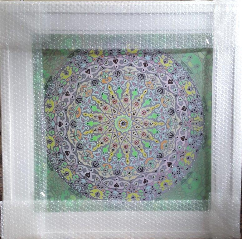 Moonstar - Hand - finished framed print