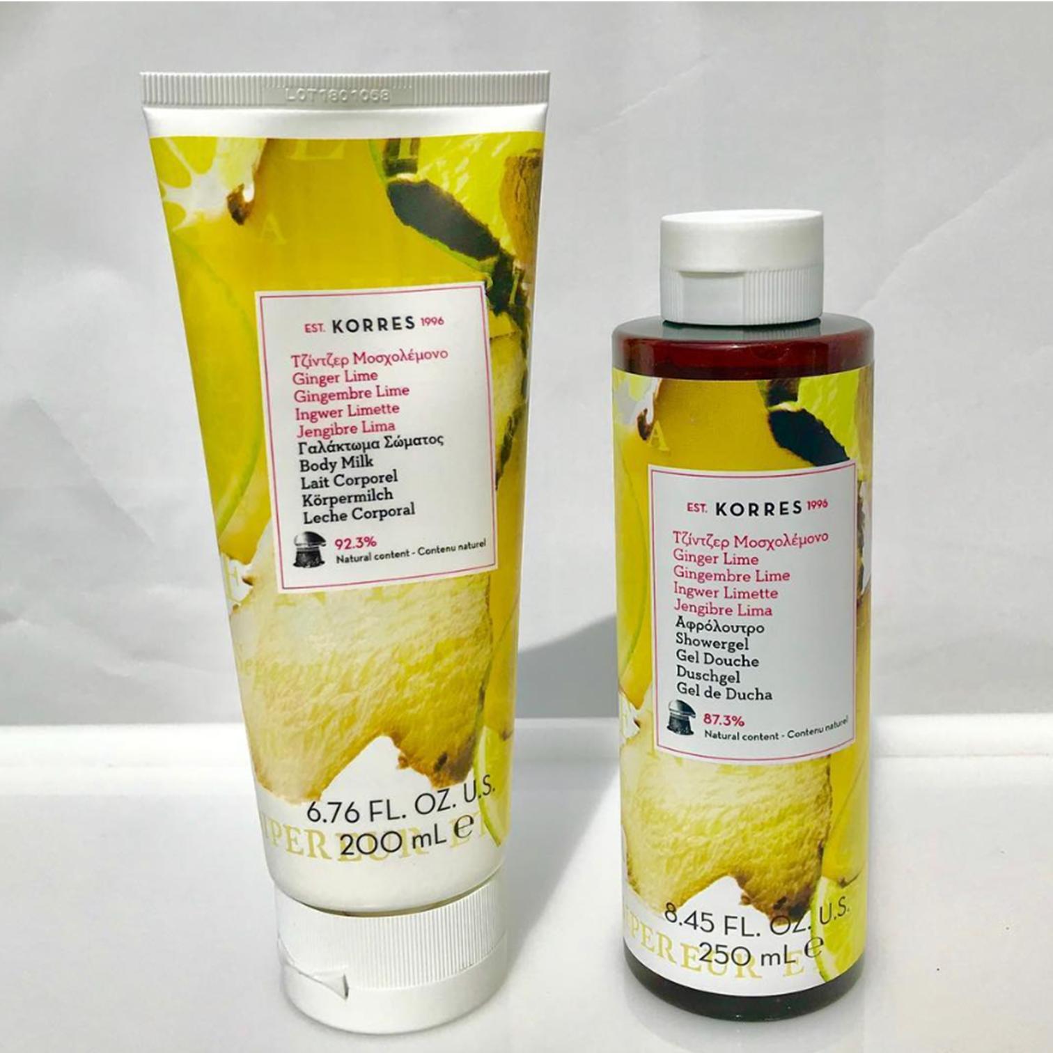 Ginger Lime Showerge + Bodymilk