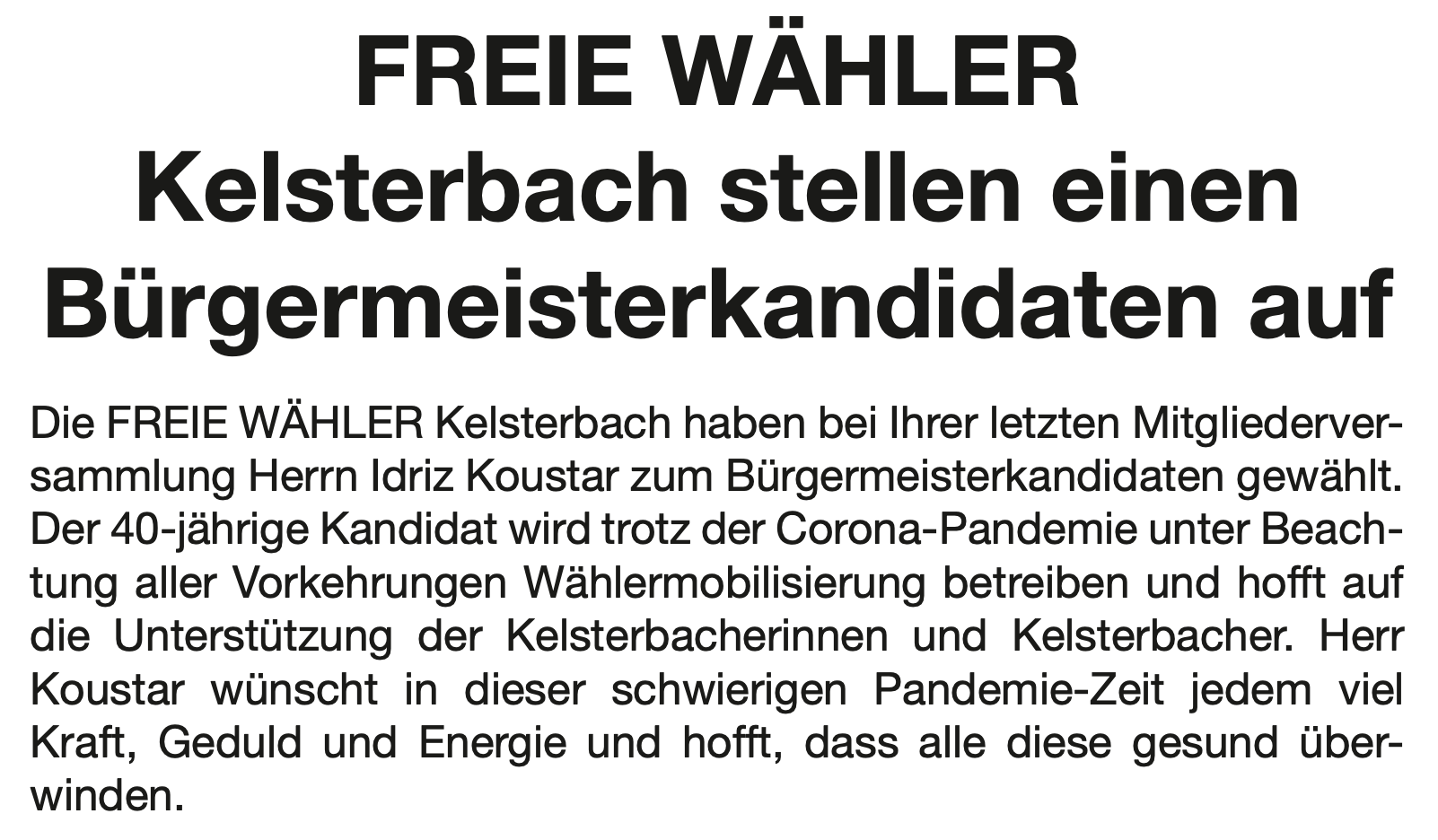 Kelsterbach Aktuell, 03.04.2020 - Ausgabe 14/2020