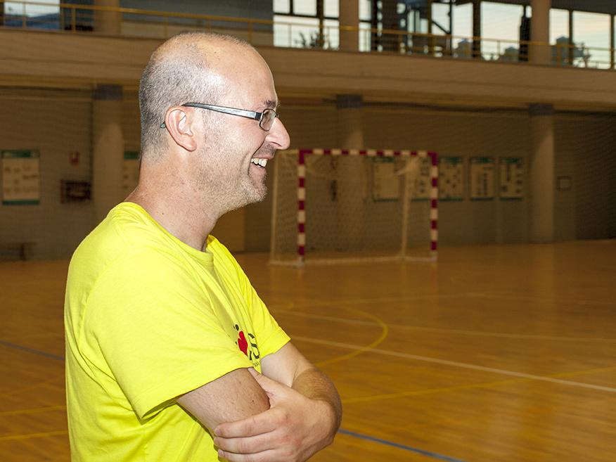 Rubén Pena durante la sesión de ayer