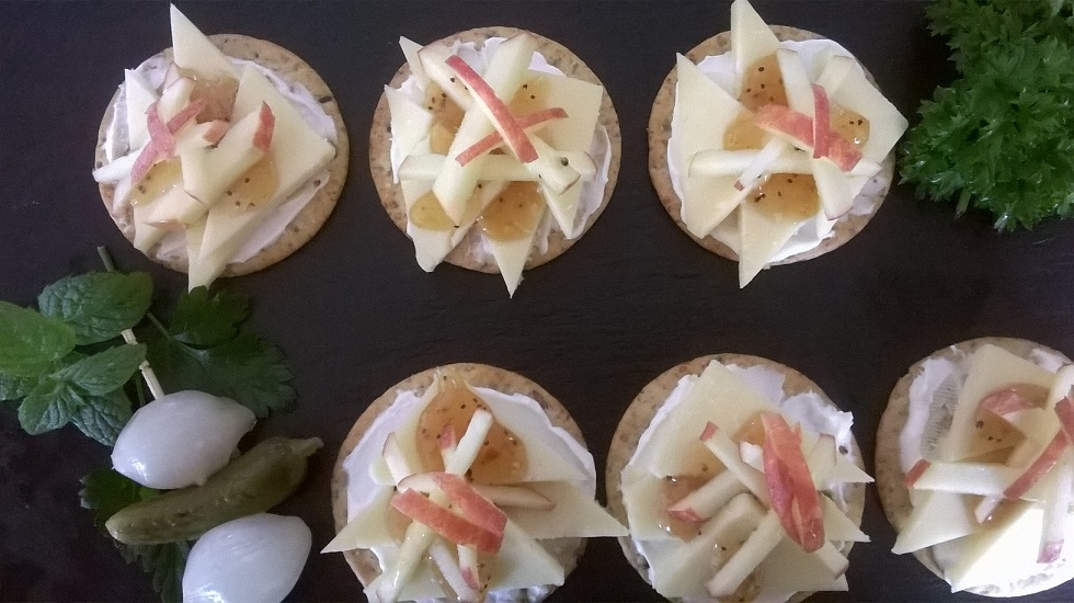 Vitamin D rich foods - cheese canapes