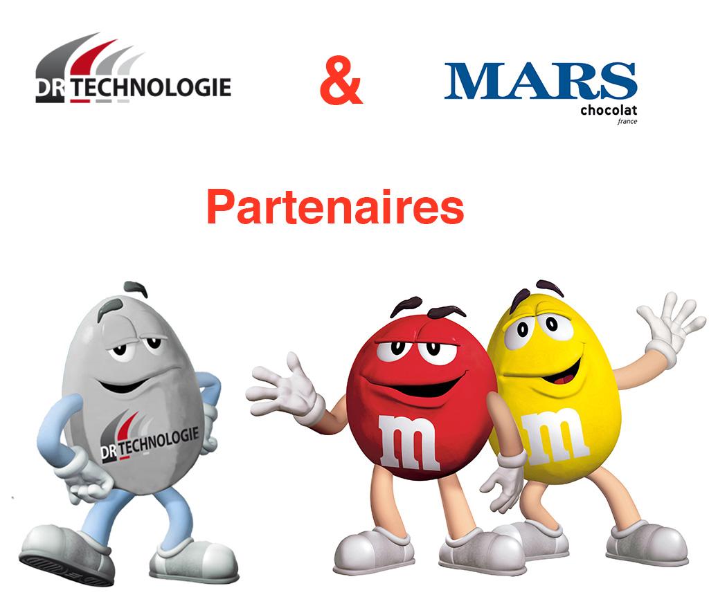 Mars chocolat france et DR technologiie partenaire