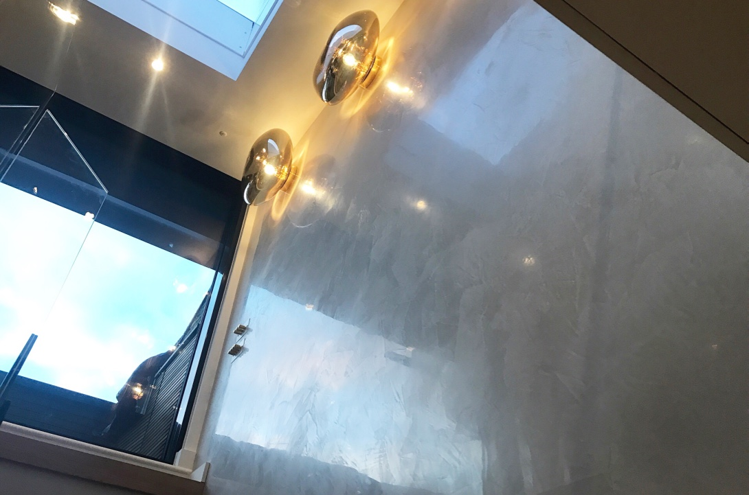 Polished Plaster London Stairwell venetian plaster