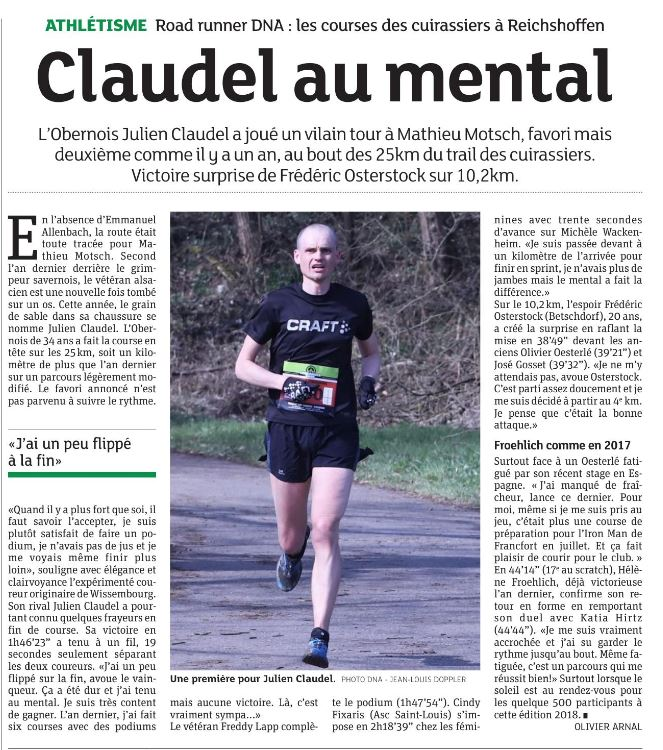 Article du DNA : Claudel au mental
