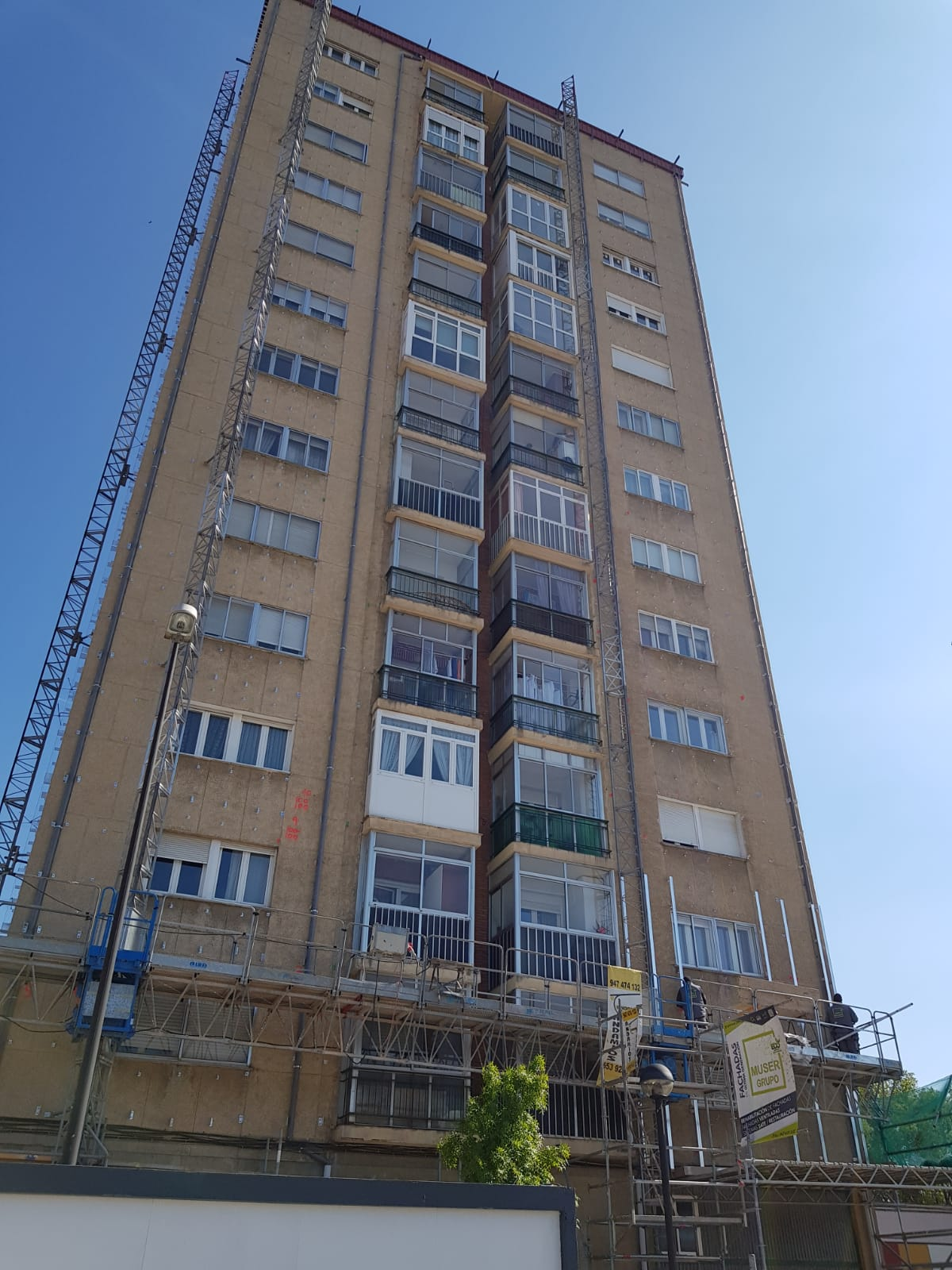 Rehabilitación de fachada Torres de Gamonal