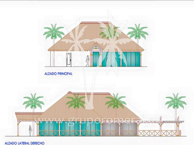 Proyecto Club de Playa de madera y junco africano