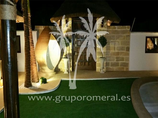 Diseño exclusivo junco africano pergola piscina