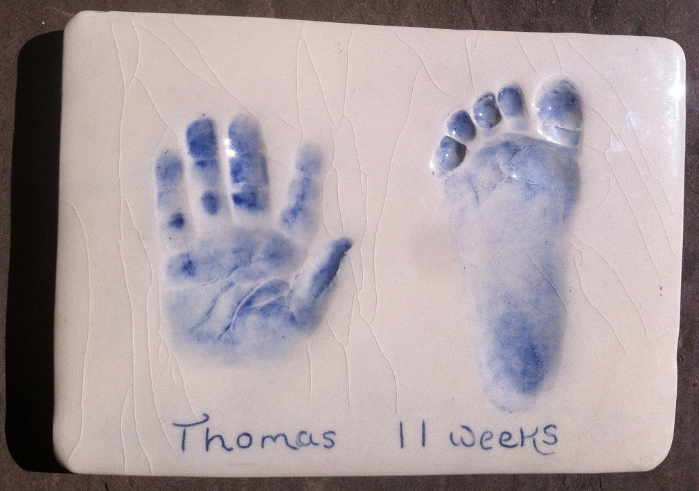 Hand Foot Paw Impressions/ Prints in clay or plaster- you choose on the making day