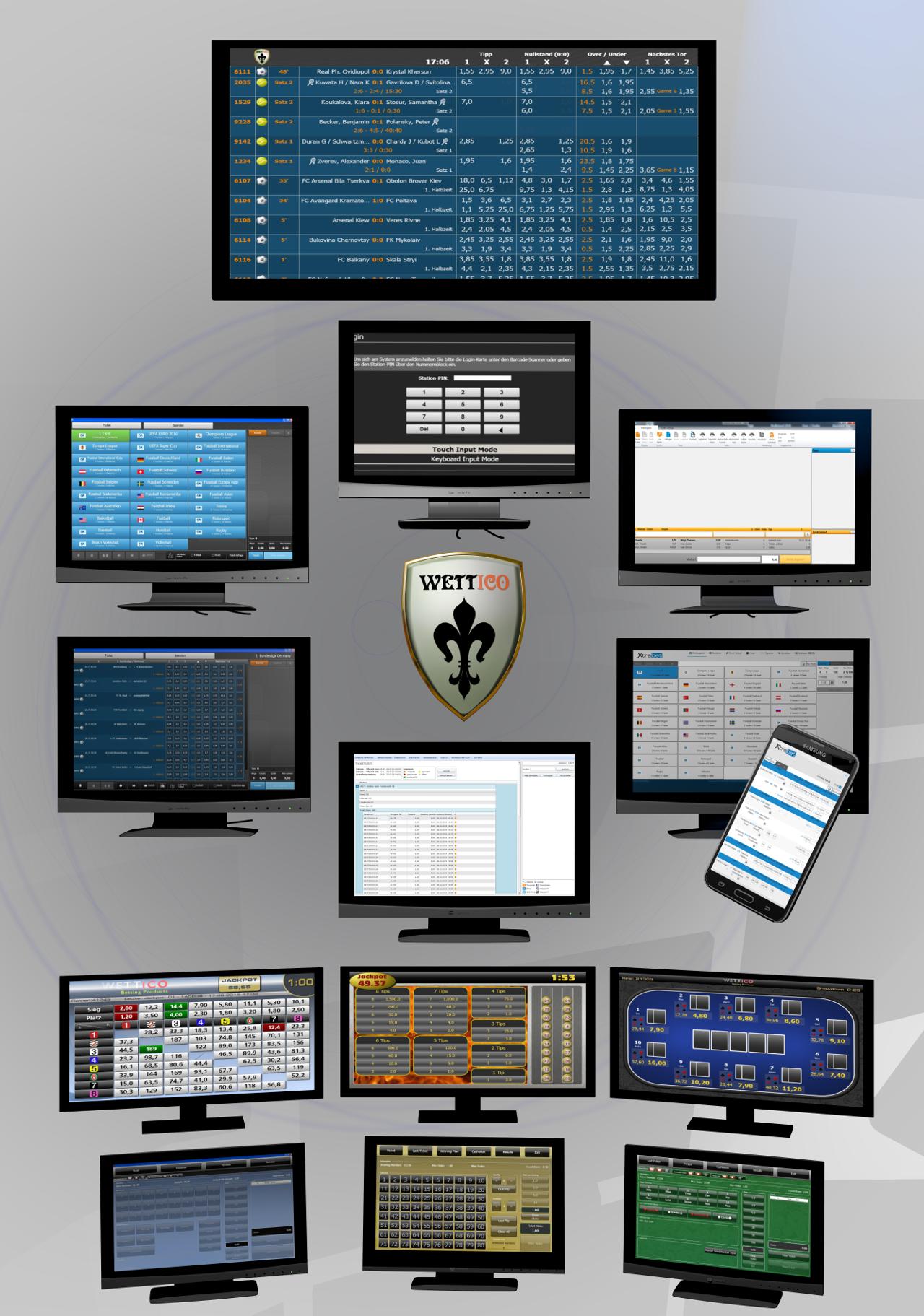 Softwarepaket Sports Betting ,  Racing Games , Keno Game , Card Games