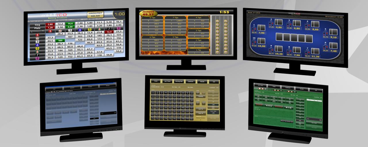 Softwarepaket  Racing Games , Keno Game , Card Games
