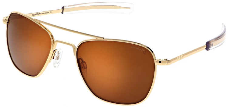 Randolph Aviator AF057 Gold 23K TAN Polarized
