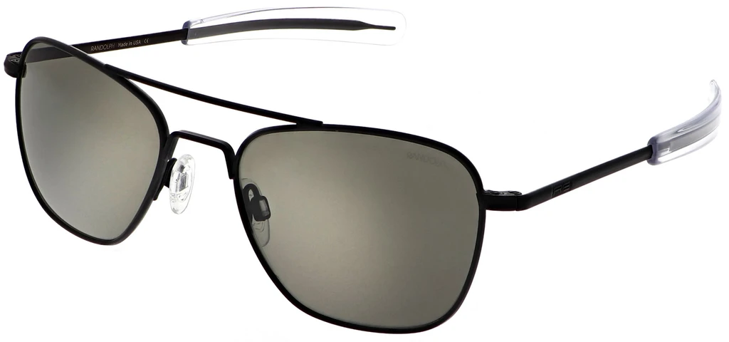 Randolph Aviator AF068 Matte Black American Gray Polarized