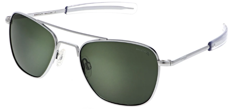 Randolph Aviator AF139 Matte Chrome AGX Polarized