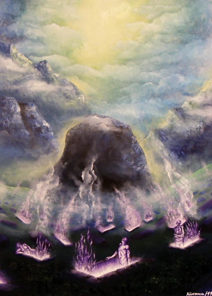 """""""The Burning Graves"""" Art Print"""