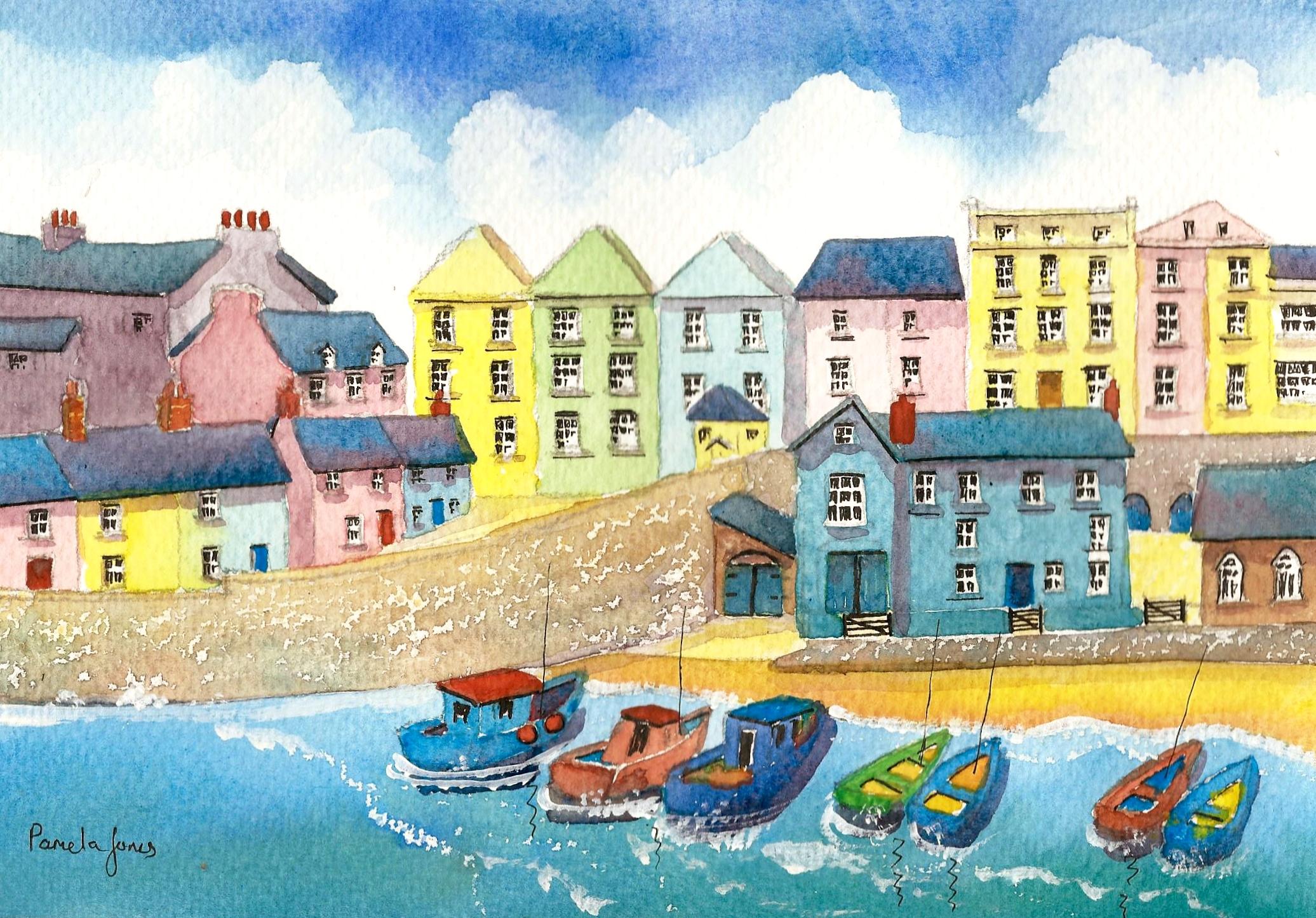 49.    Tenby Harbour, Pembrokeshire, West Wales